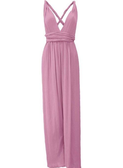 Banyan Multiways Jumpsuit In Pink
