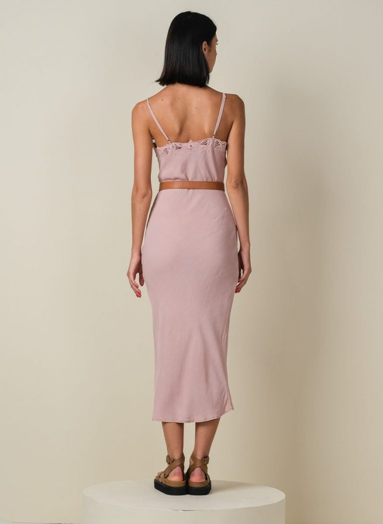 Roscoe Embroidery Dress Pink Back (Revised