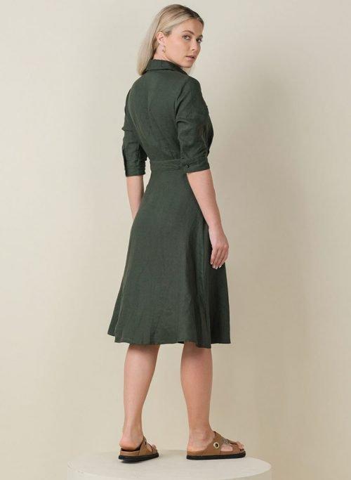 Jane Dress Army Back (Resized)