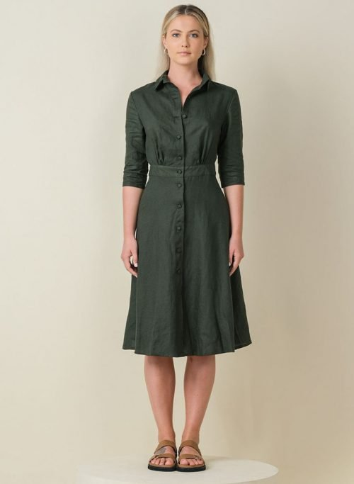Jane Dress Army Front (Resized)