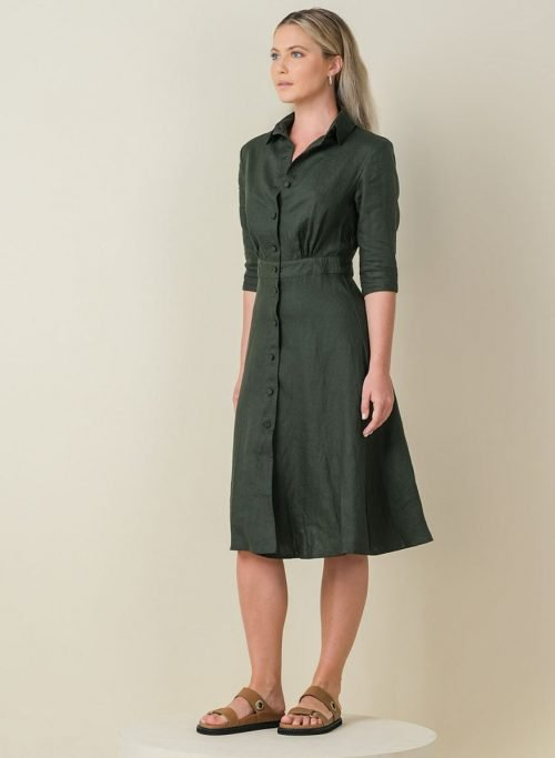 Jane Dress Army Front Side (Resized)