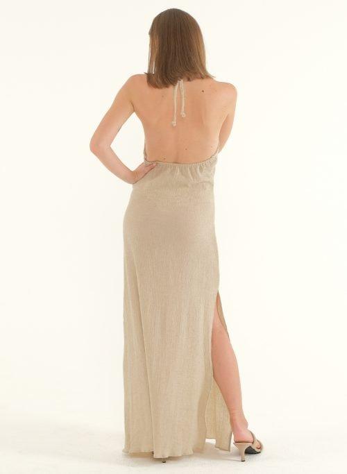 Ballari Linen Crinke Slit Maxi Dress 3
