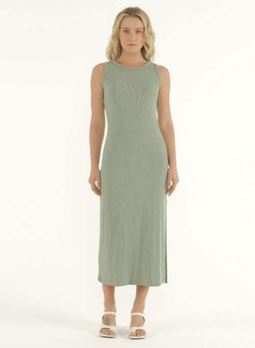 Joselyn Midi Dress in Mint Green 1