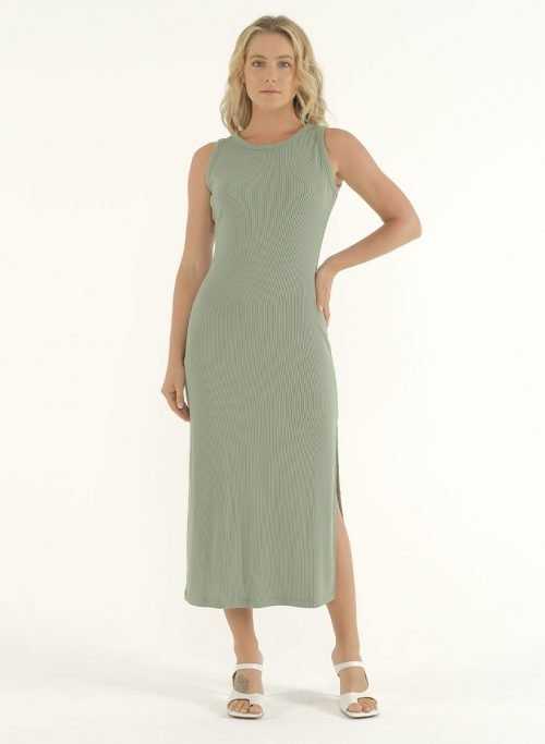 Joselyn Midi Dress in Mint Green 2