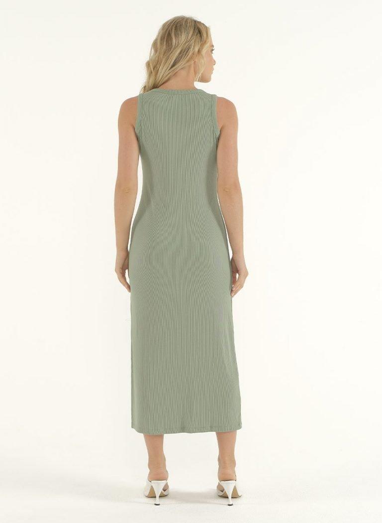 Joselyn Midi Dress in Mint Green 3