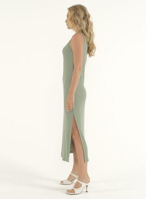 Joselyn Midi Dress in Mint Green 4