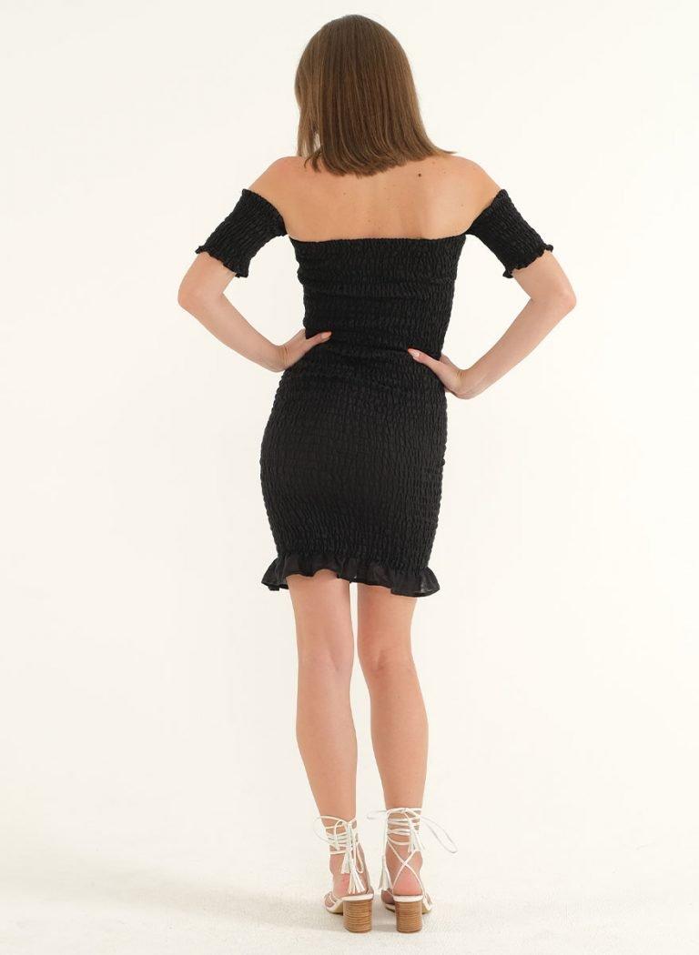 Riga Linen Mini Bodycon Dress – BlackArtboard 3