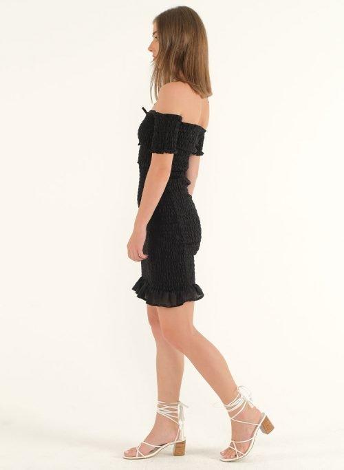 Riga Linen Mini Bodycon Dress – BlackArtboard 4