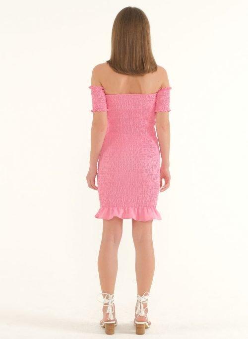 Riga Linen Mini Bodycon Dress – PinkArtboard 3
