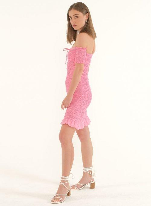 Riga Linen Mini Bodycon Dress – PinkArtboard 4