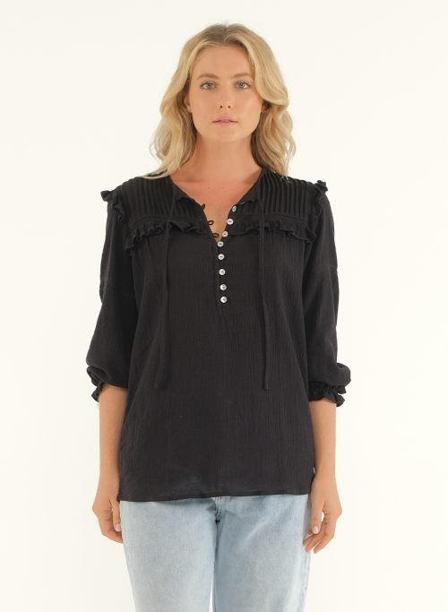 The Wild Side Blouse – Black 2